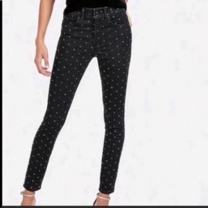NWT Express Black Ankle Legging High Rise Jeans